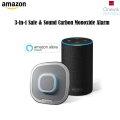 Onelink Safe & Sound Smart Hardwired Smoke, Carbon Monoxide Alarm & Home Speaker + Echo (2nd Gen)
