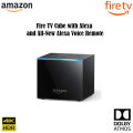 Fire TV Cube with Alexa & 4K Ultra HD Includes All-New Alexa Voice Remote, Streaming Media Player