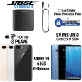 Bose Bluetooth Speaker W/Choice Of iPhone8+ Or Galaxy S8+  & 2Yr Cellular + Accidental Warranty