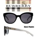 Burberry Phantos Shape Acetate Frame Sunglasses - Available In Black W/ Grey Lens