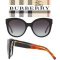 Burberry Cat Eye Acetate Frame Sunglasses - Available In Black W/ Brown