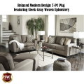 Relaxed Modern Design 6-PC Pkg Featuring Sleek Gray Woven Upholstery