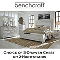 Country Cottage Distressed Whitewashed Finish  Bedroom Package Featuring Queen Footboard Storage Bed