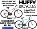 Huffy Women's & Men's Mountain Bike Duo W/15-Speed Thumb Shifting & Steel Frame (ASSEMBLY REQUIRED)