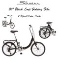 Schwinn 20-Inch Loop Folding Bike Featuring 7 Speed Drivetrain