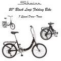 Schwinn 20-Inch Loop Folding Bike Featuring 7 Speed Drivetrain