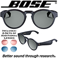 Bose Unisex Rondo Rounded Audio Sunglasses + 2-Additional Pairs of Colored Lenses