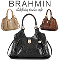 Brahmin Elisa Melbourne Hobo Bag-Available In Pecan, Black, Or Cocoa