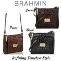 Brahmin Mimosa Melbourne Crossbody Bag-Available In Black, Pecan, Or Cocoa