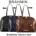 Brahmin Cora Melbourne Business Tote - Available In Black or Pecan