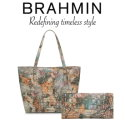 Brahmin Melbourne Brooke Slim Tote & Veronica Tri-Fold Wallet - Available in Gemstone