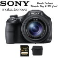 Sony Cyber-Shot 20.4 Megapixel Digital Camera Bundle With Manfrotto Bag & SD Card-Available In Black