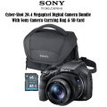 Sony Cyber-Shot 20.4 Megapixel High Zoom Digital Camera, SD Card & Camera Carrying Case