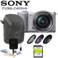 Sony Alpha A5000 Mirrorless Digital Camera Bundle Featuring Lowepro Dashpoint 30 Camera Pouch & More