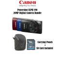 Canon PowerShot Megapixel Digital Camera Bundle- Available In Blue, Red Or Black