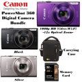 Canon Powershot ELPH 360 Digital Camera Bundle W/Carrying Case & SD Card