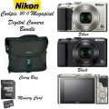 Nikon Coolpix 20.0 Megapixel Digital Camera With Carry Bag & 32GB Memory Card-Available In 2 Colors