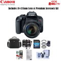 Canon EOS Rebel T7i DSLR with 18-135mm STM Lens - with Free Accessory Bundle