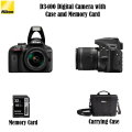 NIKON D3400 Digital Camera With Case and  32GB Memory Cards