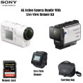 Sony Action Camera Bundle With Live-View Remote Kit, Includes 64GB Memory Card & Carrying Case