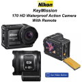 New Nikon KeyMission 170 HD Waterproof Action Camera With Remote