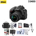 Nikon D3400 DSLR With 18-55mm DX VR Lens & Premium Kit