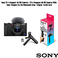 ZV-1 Compact 4K HD Camera With Sony Vlogger Acc Kit Bluetooth Grip/ Tripod/ 64GB