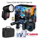 Canon EOS 90D DSLR Video Kit with DM-E100 Mic & EF-S 18-55mm Lens With Flash Kit