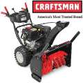 Craftsman� 30� 357cc Dual-Stage Snow Blower With 12� Serrated Steel Auger & Impeller