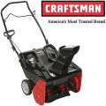 "Craftsman� 21"" 123cc Single Stage Snow Thrower With Electric Start"