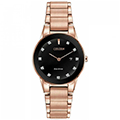 Citizen Eco-Drive Axiom 30mm Splash Resistant PInk Gold-Tone Women's Watch