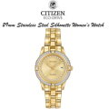 Citizen Eco-Drive Gold Tone Silhouette Crystal Link Women�s Watch