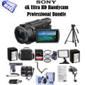 Sony 4K Ultra HD Handycamcorder With Pro Accessory Bundle