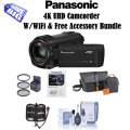 Panasonic 4K UHD Camcorder With 4K Photo Wi-Fi, Includes Free 5PC Accessory Bundle