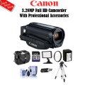 Canon  3.28MP Full HD Camcorder Black With Premium Accessory Bundle