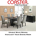 Unique Wave Design Highlight This Complete Modern Design Dining Package