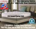 "CrystalCove Plush 10.5"" Qn Mattress + Foundation; A Great Solution For Back, Stomach & Side Sleepers"