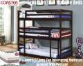 Triple Tw Bunk Bed W/3-Tw 8.5� Euro Top Mattresses; Multiple Configurations To Suit Every Household