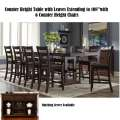 7-PC Counter Height Table w/Leaves for Large Family Gatherings or Remove Leaves for Intimate Dining