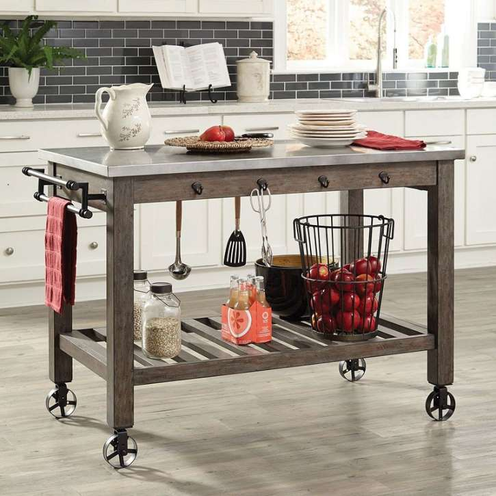Rustic Industrial Design 7 Pc Dining Set Aged Patina In A Gun Metal