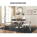 Luxurious Sleek Modern Design Featuring Solid Marble Table Top with Chrome Finish