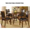 Modern Classic Dining at Affordable Pricing Featuring Deep Brown Table with Underneath Storage Space