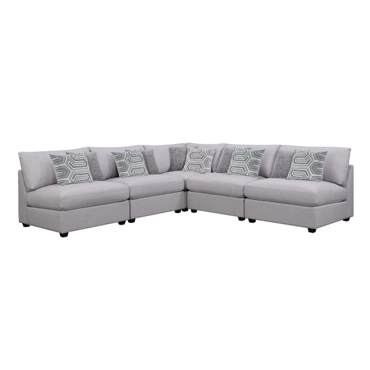 Modular Sectional For All Room Sizes W/Grey Linen Upholstery