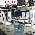 Best Selling Modern Design 9PC Dining Set With Refractory Leaf Extensions & White or Black Chairs