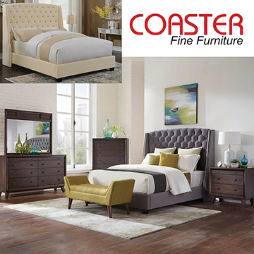 Wingback Upholstered Bed in Gray Velvet W/Button Tufting w/Matching Pieces & FREE Gray Bed Bench