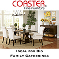 Rustic Dining Package Featuring a Large Family Sized Table for Everyday Dining & Family Gatherings
