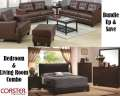 Bundle Up & Save W/This Combo Pkg Featuring 6PC Bedroom & Sofa W/Choice Of Loveseat Or Chair/Ottoman