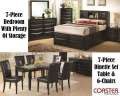 Refresh Your Home W/A New Multi-Rm Pkg Featuring 7PC Black Bedroom W/Plenty Of Storage & 7PC Dinette
