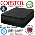 "Zayden 12"" Pillow Top Hybrid Queen Mattress + Foundation"