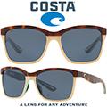 Costa Women's Anaa Shiny Retro Polarized Sunglasses